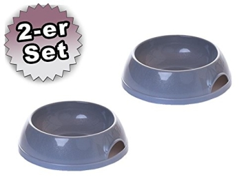 Setangebot XL Haubentoilette 56 x 45 cm grau + gratis Jumbo Streuschaufel und 2 Näpfe